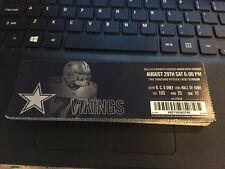 2015 DALLAS COWBOYS VS MINNESOTA VIKINGS NFL TICKET STUB 8/29