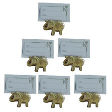 6pcs Gold Elephant Design Place Card Holder Wedding Favors