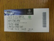 19/09/2012 Ticket: Celtic v Benfica [Champions League] (Folded). Thanks for view