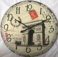 60cm extra large diy wall clock vintage antique style retro home decor