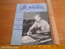 Van de Kamp's Windmill baking company magazine 1954 art employees