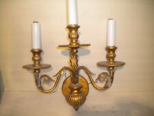 VINTAGE ORNATE 3 CANDLE WALL SCONCE