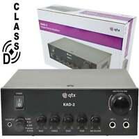 QTX KAD-2 Digital Stereo Amplifier Class D 110W 4 Ohm & 80W 8 Ohm With Echo FX