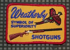 USA Weatherby Shotguns - Symbol of Superiority Cloth Jacket Patch 1970s