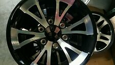 A411 BLACK15X6  ALUMINUM  TRAILER  RV  WHEELS 6x5.5 TRAILER CITY DIRECT PRICE!
