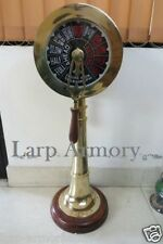 "SHIP ENGINE TELEGRAPH 36"" COLLECTIBLE WITH WOODEN BASE FUNCTIONAL RING"