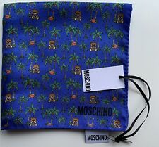 NWT Authentic MOSCHINO Teddy Bears Square Multicolor Silk Handkerchief