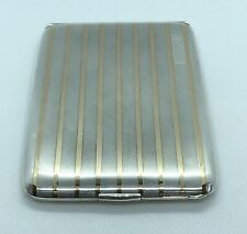 Rare! Art Deco Tiffany and Co. Sterling Silver and 14K Gold Cigarette Case