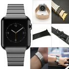Stainless Steel Butterfly Lock Watch Band Strap For Apple Watch iWatch 38/42mm