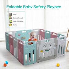 Baby Kids Safety Play Center Yard Home Indoor Outdoor Pen 14 Panel Baby Playpen