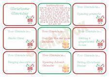 Christmas Charades Party Game Children Family Activity Xmas Fun Activity Santa