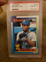1990 Topps Ken Griffey Jr. RC Rookie card error PSA 8 NM-MT graded Bloody Scar