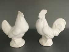 Hen & Rooster Set *Ceramic Bisque Ready to Paint