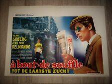 belmondo A BOUT DE SOUFFLE ! jean seberg GODARD TRUFFAUT affiche d'epoque 1960