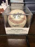 Jose Quintana Game Used Strike Out Pitch Baseball MLB Authenticated Holo Cubs