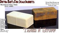 Rectangular Steel Tanks (2pc) Scale Model Masterpieces HOn3 Fine Craftsman