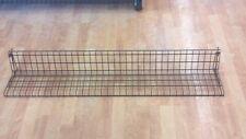 """Six x 47"""" Slatwall Wire Slat Wall Retail Display Shelf Powder Coat Brown"""