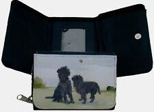 More details for affenpinscher dog canvas fabric purse  watercolour print sandra coen artist