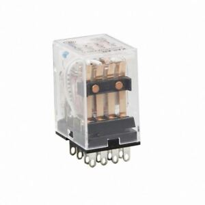 3 x 240v AC RELAY 4PDT- WITH BASE DIN MOUNT NORMALLY OPEN NORMALLY CLOSED 3A