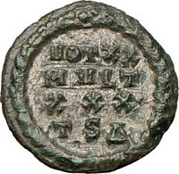 Constantine I the Great 318AD Ancient Silvered Roman Coin  WREATH  i24496