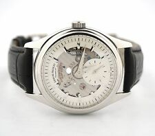 ARMAND NICOLET TRAMELAN 18K WHITE GOLD 7140 MENS WATCH