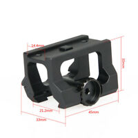 Quick-Detach Scope Mount Riser Mount for T2 Red Dot Sight Fit 21mm Rail Black