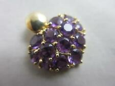 Amethyst Yellow Gold Pendant/Locket Vintage Fine Jewellery