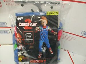 CHILD'S PLAY 2 CHUCKY CHILD COSTUME SIZE LARGE 10-12 NEW FAST / FREE SHIPPING