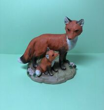 Vintage Homco Red Fox Figurine Mom and Kit #1417