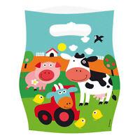 Farm Fun Animals 8 Loot Bags Birthday Party Children Colourful