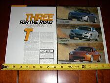 2004 NISSAN 350Z vs. 2004 HONDA S2000 vs. 2004 MAZDA RX8 ***ORIGINAL ARTICLE***