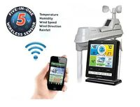 New Acurite Wireless Professional Weather Station 5-in-1|Color Monitor|Phoneapp1