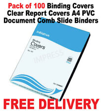 Binding Covers Clear Report Covers A4 PVC Document Comb Slide Binders pack 100