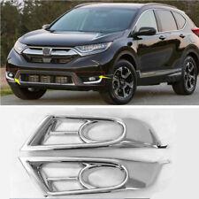 ABS Chrome Front Fog Light Lamp Bezel Cover Trim FOR HONDA CR-V CRV 2017 2018