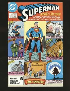 Superman # 423 - last issue Alan Moore story NM- Cond.