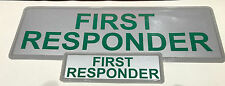 FIRST RESPONDER REFLECTIVE BADGE PACK - MID 250mm x 100mm / small 135mm x 45mm