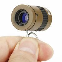 2.5x17.5 HD Mini Portable Handheld Finger Buckle Pocket Monocular Telescope Mud