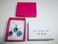 Studio 1886 Birthstone Pendant Necklace & Pierced Earring Set-March