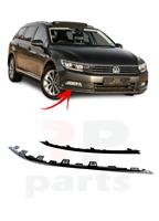 Pour VW Passat B8 14-18 Avant Pare-Choc Inférieur Chrome/Noir Moulure Bord Coté