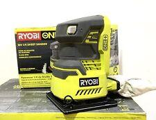 NO RESERVE!! RYOBI P440 18-Volt ONE+ Cordless 1/4 Sheet Sander (Tool-Only)
