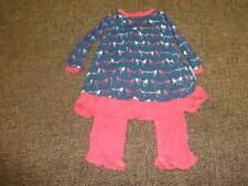 KICKEE KICKY PANTS 0-3 BLUE PINK BIRD DRESS OUTFIT TWINS