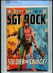 Our Army At War #220 CBCS 7.5 Kubert Cover Dino Cover SGT Rock