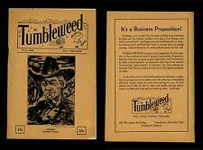 Vol 1 Iss 1 TUMBLEWEED 7/1935 Alien Isms Story Magazine Pacific NW Portland, OR