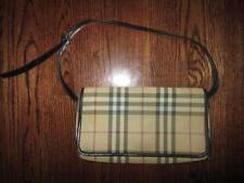 BURBERRY London hand Bag Flap Purse Canvas Nova Check Shoulder bag Authentic