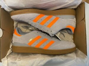 Adidas Busenitz Pro Shoes Halo Silver/Signal Orange/Gum Men's Size 10.5 NWB
