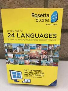 Rosetta Stone 24 Languages 1 Year Subscription full course online MAC or PC