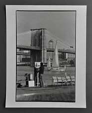 Leon Supraner New York Silver Gelatin Photo Print Brooklyn Bridge East River 80s