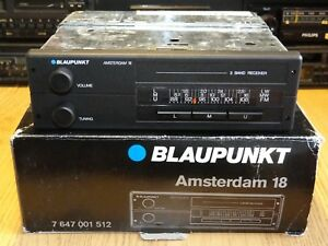 NEW Blaupunkt Amsterdam 18 NOS 80s Classic Car Stereo Boxed Warranty Unused