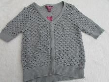 NEW EPIC THREADS SIZE XL BUTTON FRONT 3/4 SLEEVE GRAY SWEATER TOP