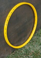 "NOS 26"" Yellow MTB Bicycle RIM 36h Vintage Schwinn Chopper Cruiser Bike Wheel DH"